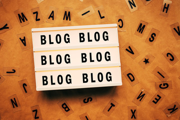 Blog and blogging concept