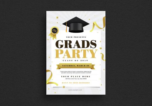 Graduation Party Flyer Layout