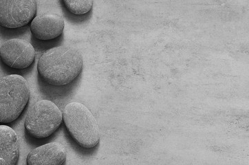 Stone zen spa on grey background