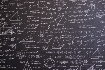 Math on black board with many solution