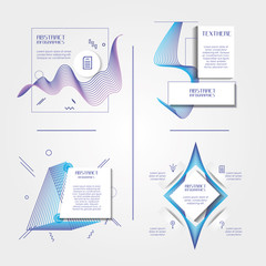 template set infographic with figures geometrics