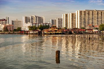 Buildings in George Town, Penang, Malaysia.