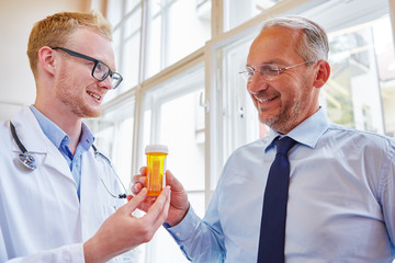 Patient receives drug from doctor