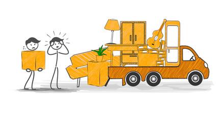 déménagement stress au chargement du camion