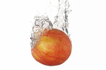 Apple Dropped In Water (Splash Photography)