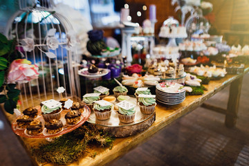 Candy bar.  Wedding. Reception Tartlets