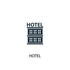 hotel creative icon. Simple element illustration