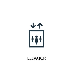 elevator creative icon. Simple element illustration