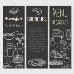 Breakfast template banner.