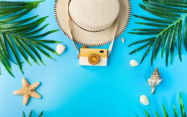 Traveler accessories, summer background