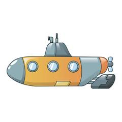 Submarine icon. Cartoon of submarine vector icon for web design isolated on white background