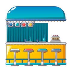 Beach bar icon. Cartoon of beach bar vector icon for web design isolated on white background