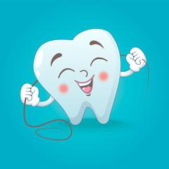 Cute tooth concept background. Cartoon illustration of cute tooth vector concept background for web design