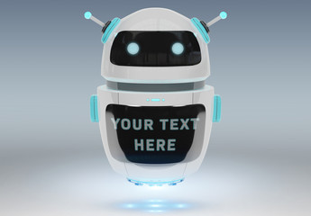 Chatbot with a Digital Screen Mockup