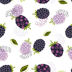 abstract pattern with blackberry