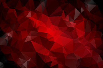 Gradient background of red and black triangles
