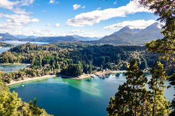 Bahia Mansa Viewpoint at Arrayanes National Park - Villa La Angostura, Patagonia, Argentina