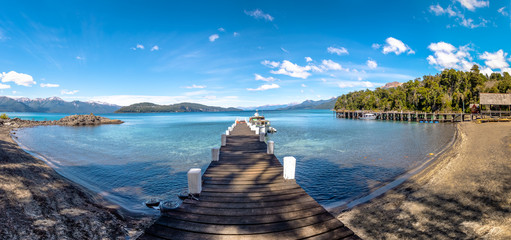 Panoramic view of Pier at Arrayanes National Park - Villa La Angostura, Patagonia, Argentina