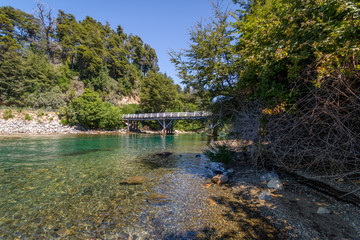 Bridge at Correntoso Lake - Villa La Angostura, Patagonia, Argentina.