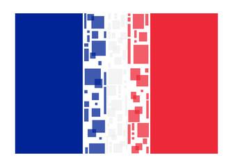 France flag pixel concept