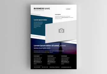 Business Flyer Layout with Dark Accents