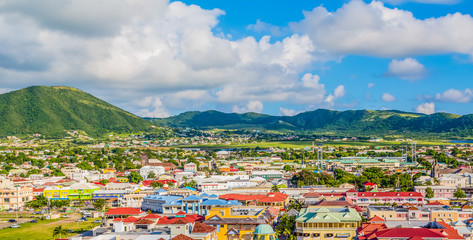 Fototapete - Colorful St Kitts Town
