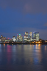 Office buildings in Canary Wharf in London