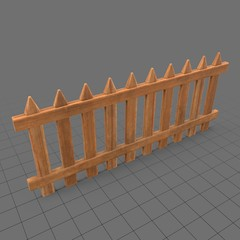 Wooden fence panel
