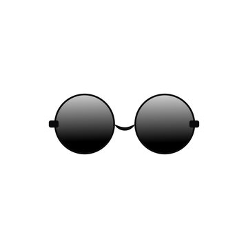 glasses round vector icon for app and website