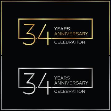 34th years anniversary celebration background