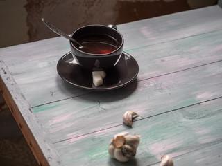 Coffee mug, Tea ceramic pair, two cousins of sugar