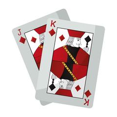 jack and king diamonds cards casino game