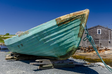 Old Fishing Dory in Peggy's Cove Nova Scotia