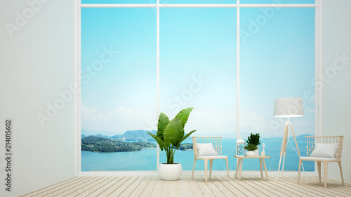 Living Room Or Lounge With Sea View And Island View In Hotel Or