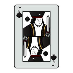 color jack spades casino card game