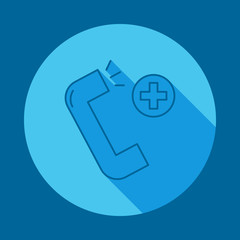 Medical help flat long shadow icon. Element of medicine icon for mobile concept and web apps. Long shadow Medical help icon can used for web and mobile