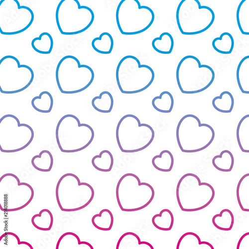 Degraded Line Heart Shape Symbol Of Love Background Stock Image And