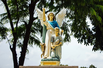 Angel Statue at Saint Joseph Catholic Church, Ayutthaya Thailand