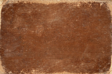 vintage brown book cover. canvas texture. use for background.