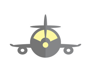 plane front vehicle transport transportation conveyance logo image vector icon