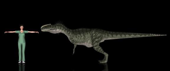 恐竜縮尺図・モノロフォサウルス