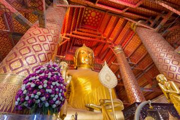 タイ・アユタヤ・寺・仏陀・ワット・パナンチューン