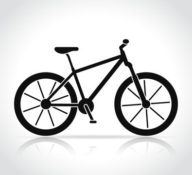 Vector mountain bike icon