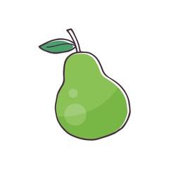 pear fruit logo