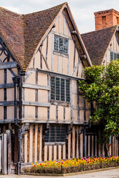 half timbered buildings stratford upon avon england uk