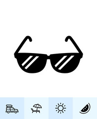 Summer and beach Icons with White Background