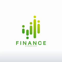 Simple Financial and investment Logo designs concept vector, Modern Finance logo designs