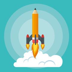 start up launcher pencil rocket