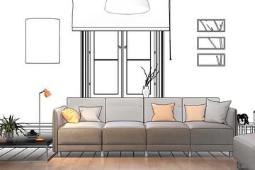 Modernes Sofa (Konzept)