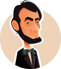 Abraham Lincoln Vector Caricature Illustration